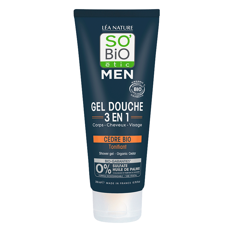 Gel douche Men 3 en 1 Cèdre Bio