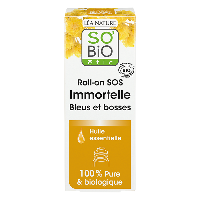 Roll-on SOS Immortelle bleus et bosses