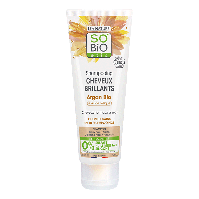 Shampooing cheveux brillants Argan